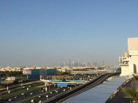 View of the Burj Khalifa from the roof of the Holiday Inn