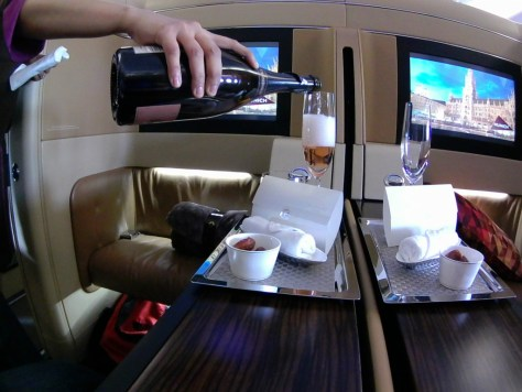 Etihad Champagne and Dates