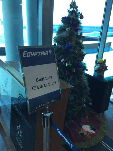 EgyptAir Christmas Lounge
