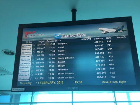 EgyptAir Departures