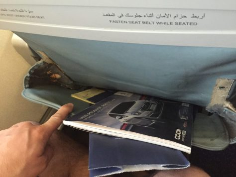 EgyptAir Seatback