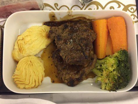 EgyptAir Beef Meal