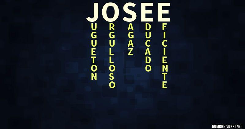 Qué significa josee