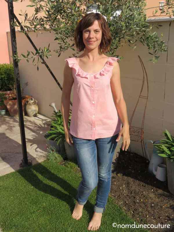 Chemisier Suzon débardeur Suzette république du chiffon - Nom d'une couture !