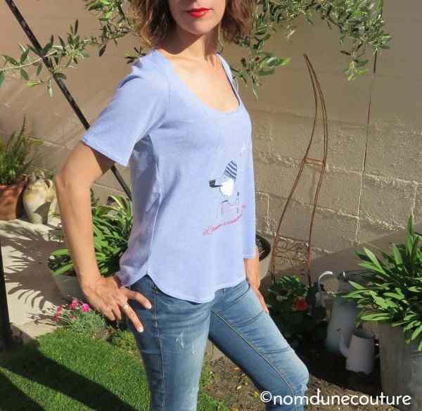 t-shirt ourlet festonné