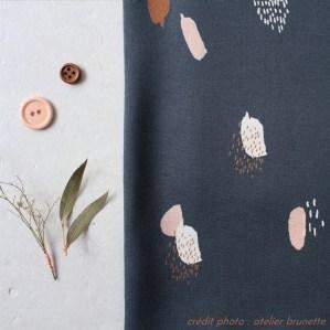 tissu moonstone blue atelier brunette