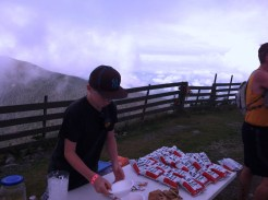 Aid station atop Jay Peak.