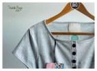 Vestido Ringo jersey gris melange.