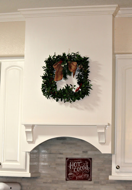 Christmas home tour, updating kitchen, how to make a range hood