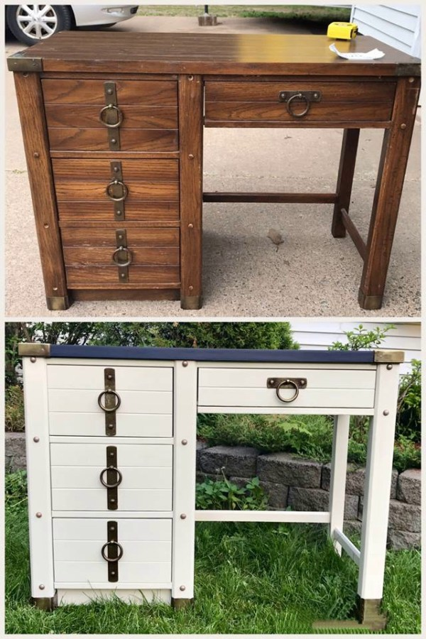 DIY Desk Before and After