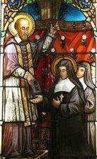François de Sales et Jeanne de Chantal - vitrail église de Thorens-Glières