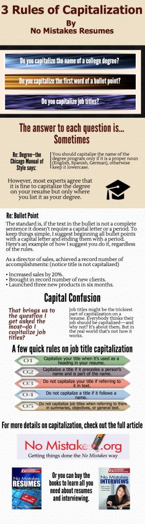 3 Rules of Capitalization on resumes