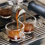 Espresso in glass cups