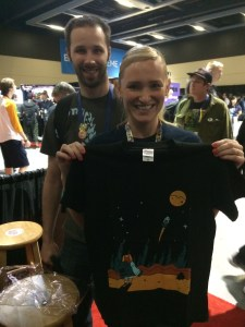 One of the lucky NNG T-shirt winners!