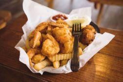 The fried shrimp basket