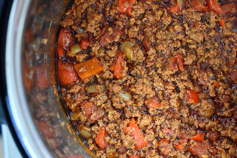 Instant Pot Ground Beef Chili by Michelle Tam http://nomnompaleo.com