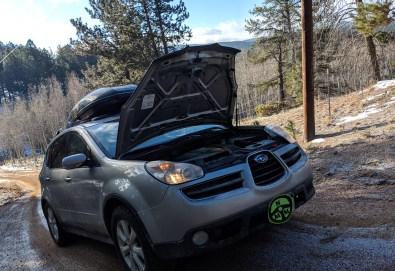 Burp-Antifreeze-Park-On-Hill-Subaru-Tribecca