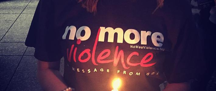 "What happens when we say, ""Enough. No More Violence"""