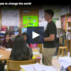 Dallas student's 'No More Violence' club aims to change the world