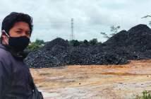 Simsalabim, Tumpukan Batu Bara Terlihat di Desa Martadinata