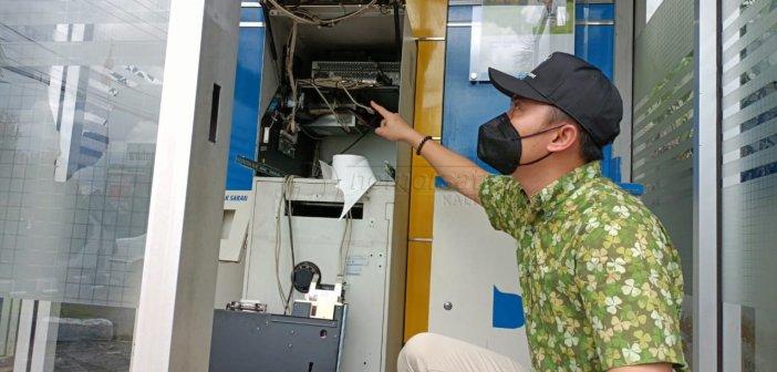Mesin ATM Bankaltimtara Dirusak, Ratusan Juta Nyaris Lenyap