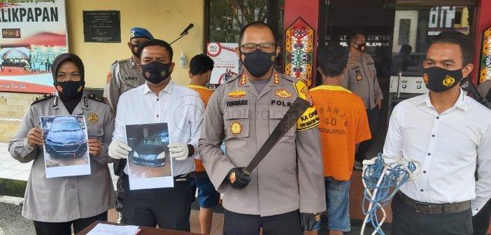 Polresta Balikpapan Bekuk Sindikat Pencuri Mobil Pinggir Jalan