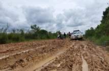 Akses Muara Beloan Masih Lumpuh, Perbaikan Jalan Terkendala Cuaca
