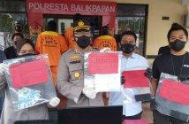 Polresta Balikpapan Tangkap 3 Tersangka Pemalsuan Surat PCR di Bandara SAMS Sepinggan