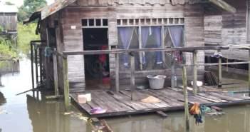 Sungai Kedang Pahu Meluap, Ratusan Rumah Terendam
