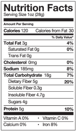 The Good Bean Nutrition Info