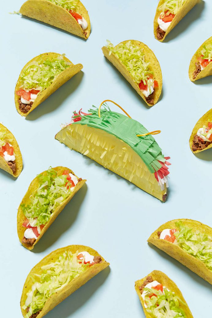 Mini Taco Pinata christmas Tree decorations for the Heart Eyed Foodie