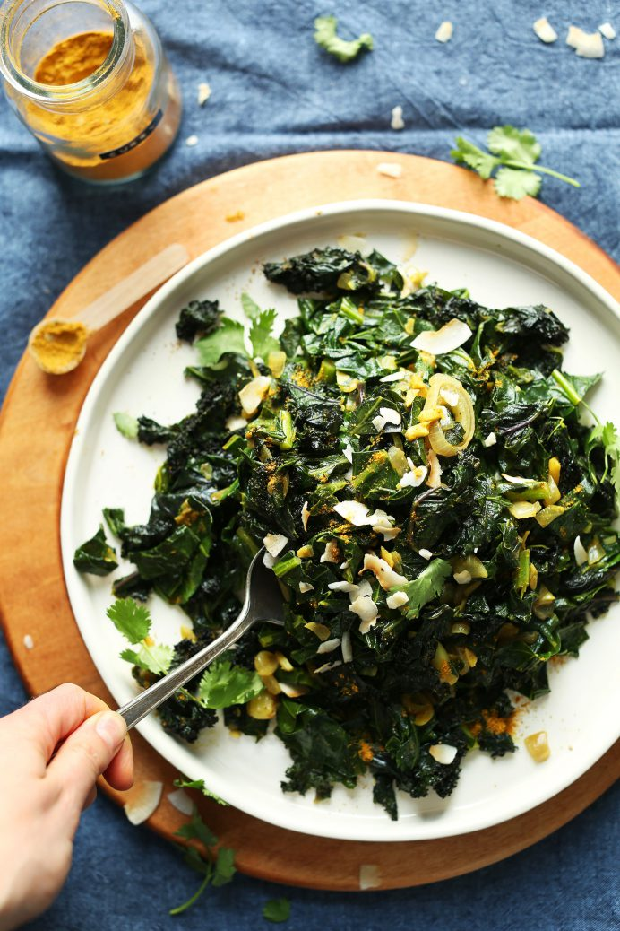 amazing-coconut-curried-greens-collars-kale-with-curry-powder-and-coconut-milk-so-healthy-tasty-vegan-glutenfree-curry-collardgreens-easy