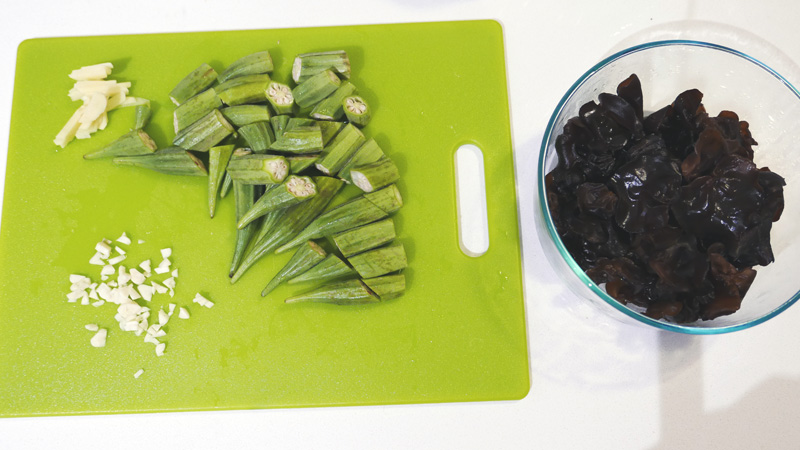 STIR FRY OKRA BLACK FUNGUS RECIPE CHINESE FOOD Nomss.com Delicious Food Photography Healthy Travel LifestyleSTIR FRY OKRA BLACK FUNGUS RECIPE CHINESE FOOD Nomss.com Delicious Food Photography Healthy Travel Lifestyle