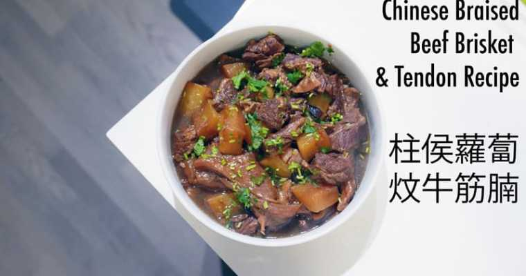 Chinese Braised Beef Brisket & Tendon Recipe | 柱侯蘿蔔炆牛筋腩