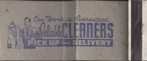 photolibrarian Matchbook, Jack Knarr, Reliable Cleaners, West Union, Iowa https://www.flickr.com/photos/photolibrarian/8127780278/in/gallery-fms95032-72157649635411636/
