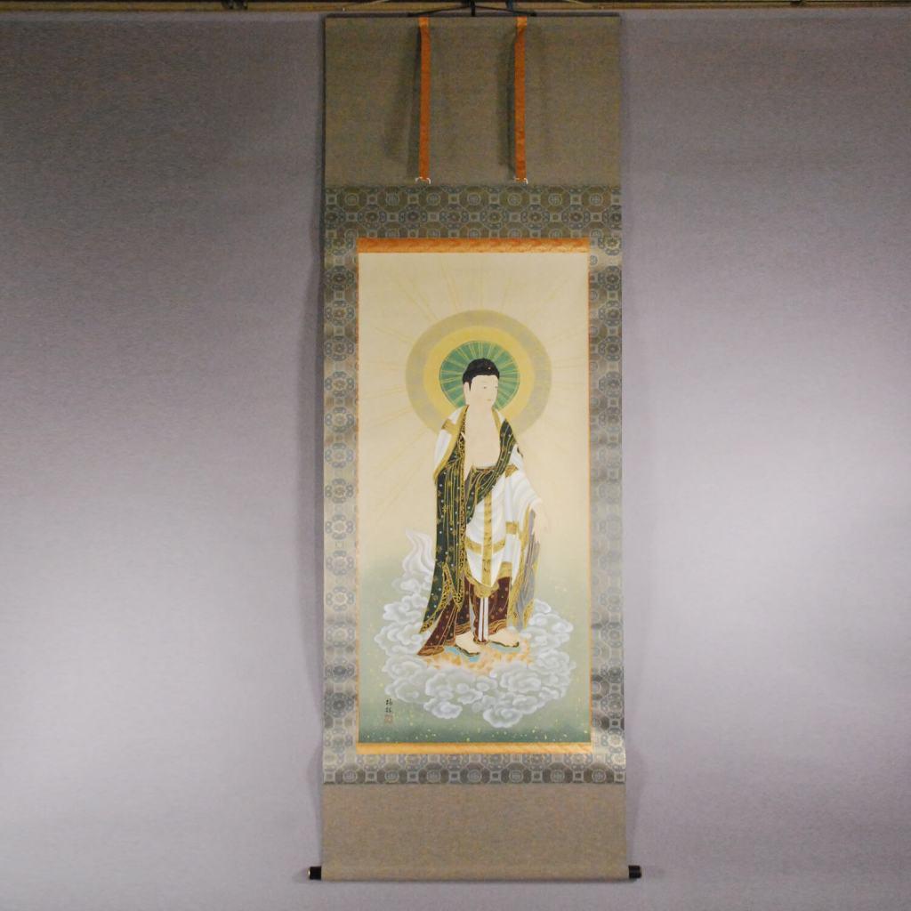 b0014 Amitabha Tathagata Painting / Tourin Uchida 001