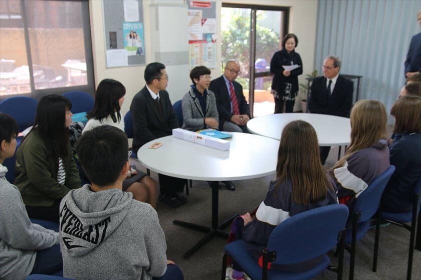 The cultural exchange meeting between 2 schools