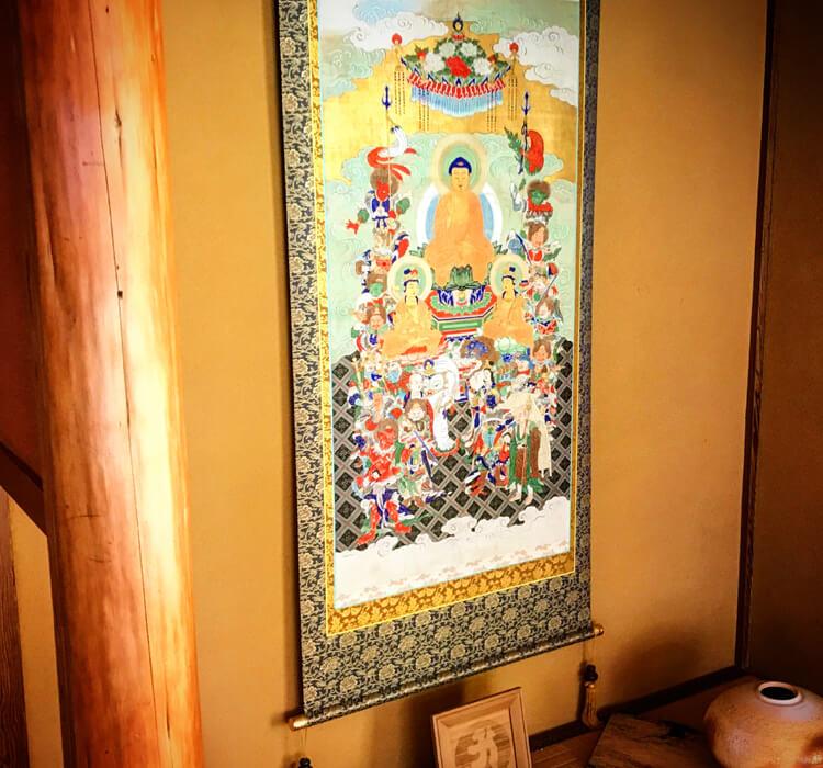 Buddha painting kakejiku tokonoma