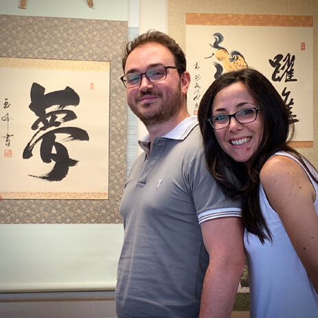 Honeymoon Souvenir Italy Kakejiku Customer Calligraphy Scroll