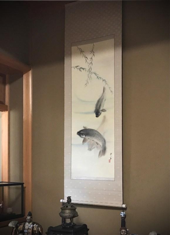 床の間 遊鯉