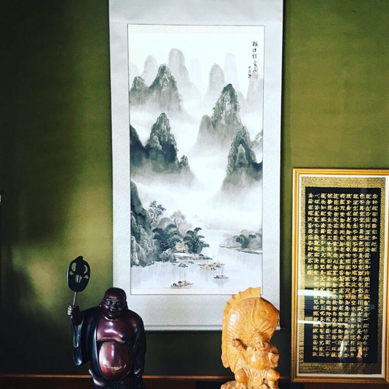 中国 山水 風景画 水墨画