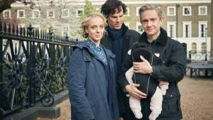 Sherlock looks like he doesn't even recognize that thing strapped to John.