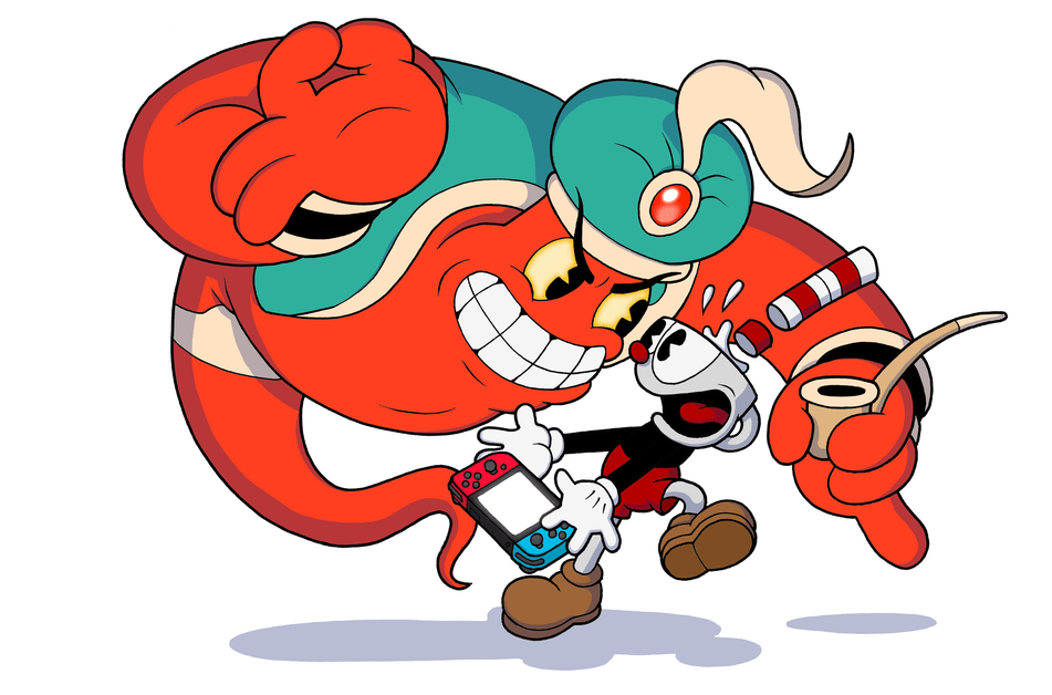 Cuphead and the Genie with a Switch