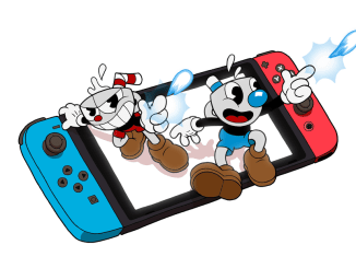 Cupman and Mugman with the Nintedo Switch