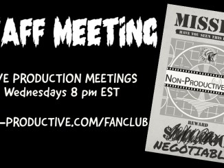 Staff Meeting Announcement: Wednesdays at 8 pm EST