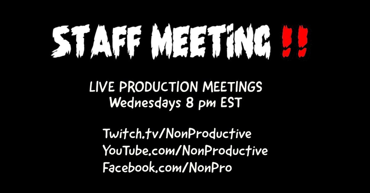 STAFF MEETING!!