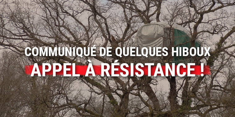 Communiqué de quelques hiboux – Appel à résistance !