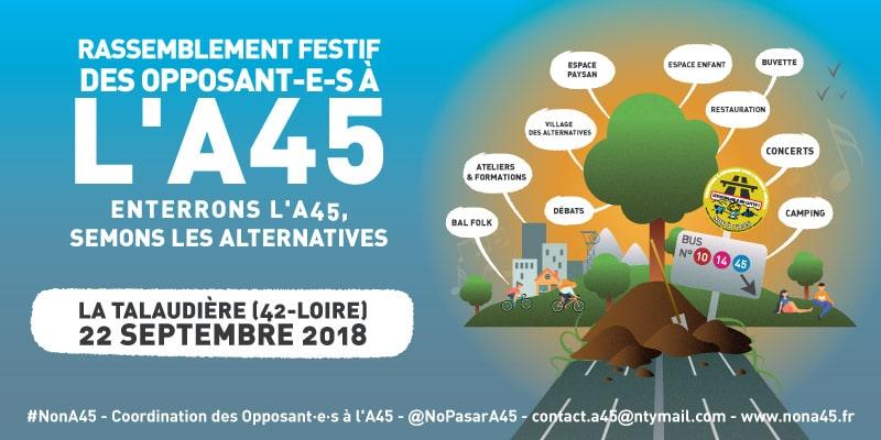 Non A45 22 septembre à la Talaudière Journée Festive
