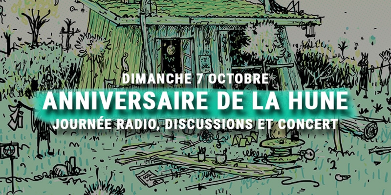 anniversaire de la Hune - radio - concert - discussions
