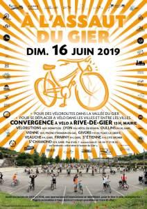 Affiche de la vélorution à l'assaut du gier ! Dimanche 16 juin 2019